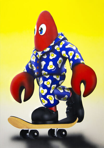 Philip Colbert, 'Lobster Skateboarding', 2019