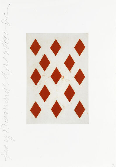 Donald Sultan, 'Ten of Diamonds, from 'Playing Cards'', 1999