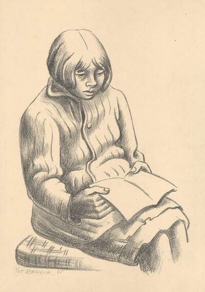 Norberto Berdia, 'Girl Reading a Book', 1945