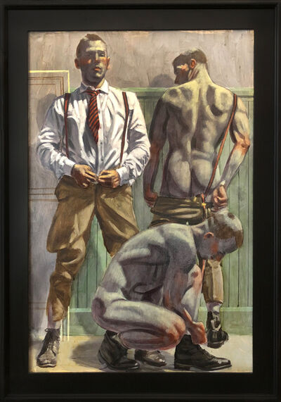 Mark Beard, '[Bruce Sargeant (1898-1938)] Three Men Undressing', n.d.