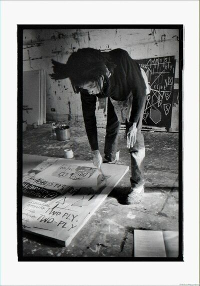 Roland Hagenberg, 'Basquiat painting on floor, New York, 1983', 1983