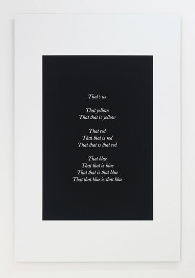 Alex Clarke, 'That's us', 2018