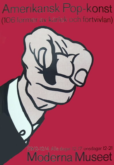 Roy Lichtenstein, 'Amerikansk Pop-Konst', 1964