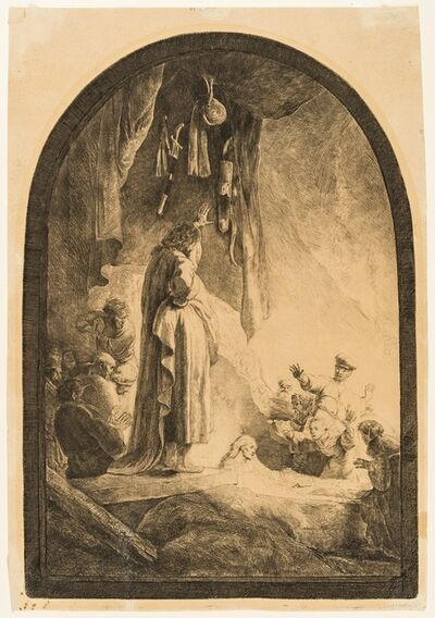 Rembrandt van Rijn, 'The Raising of Lazarus: The Larger Plate', 1632