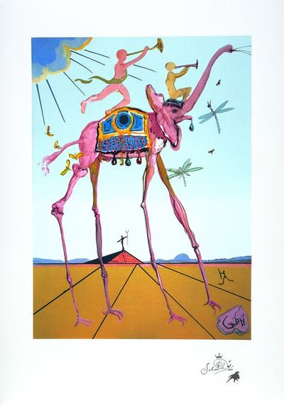 Salvador Dalí, 'Anniversary Lithograph - Triumphant Elephant', 1970-1999
