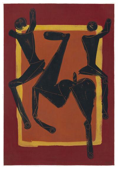 Marino Marini, 'Giocolieri e Cavallo', 1953