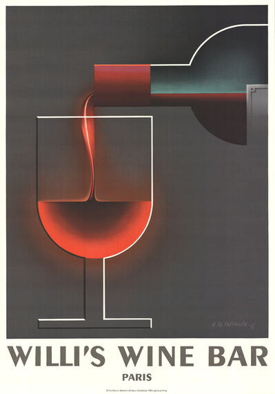 A.M. Cassandre, 'Willi's Wine Bar', 1984