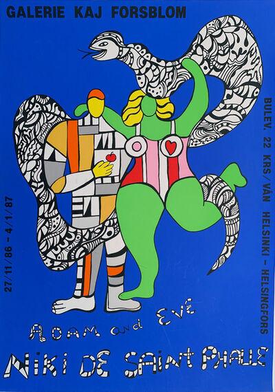 Niki de Saint Phalle, 'Adamand Eve, Galerie Kaj Florsblom', 1987