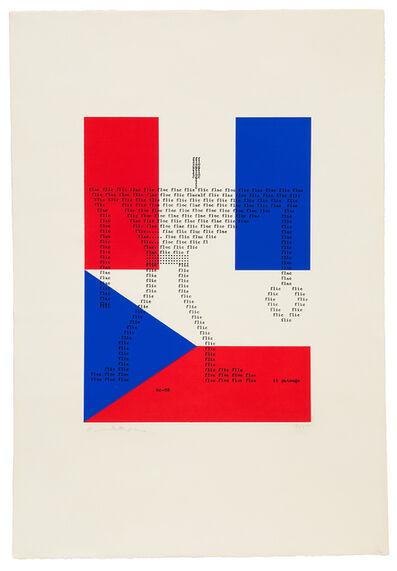 Henri Chopin, 'Flic flac floc', 1965