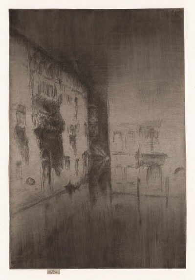 James Abbott McNeill Whistler, 'Nocturne Palaces.', 1879