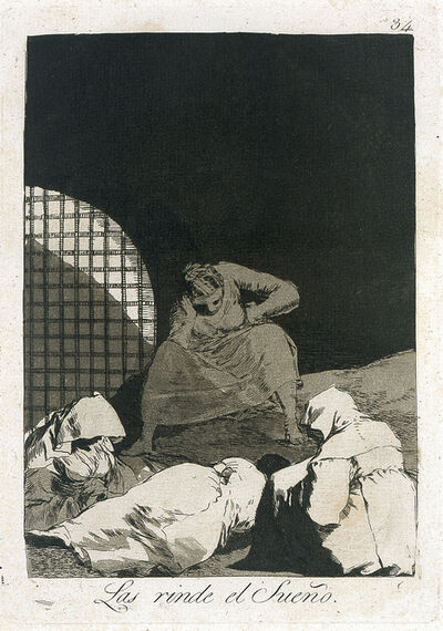 Francisco de Goya, 'Las rinde el sueño (Sleep Overcomes Them), plate 34 from Los Caprichos', 1797