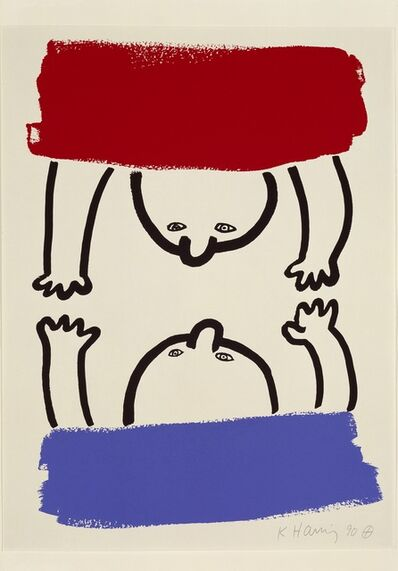 Keith Haring, 'The Story of Red and Blue', 1989