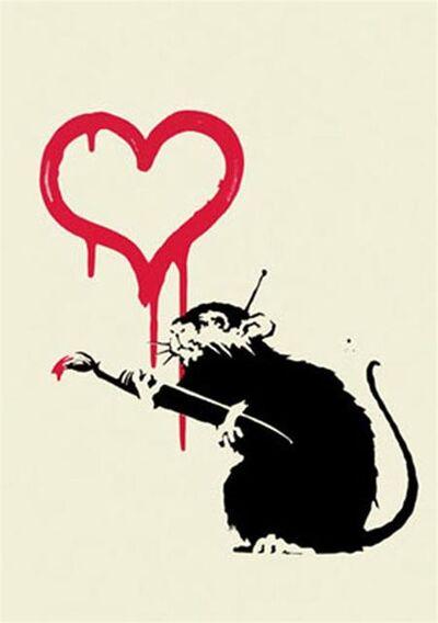 Banksy, 'Love Rat - Unsigned', 2004