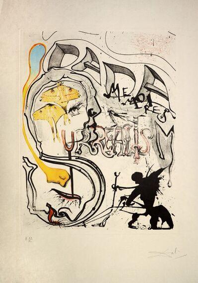 Salvador Dalí, 'Angel of Dada Surrealism, from Memories of Surrealism. ', 1971