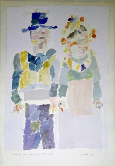 Manuel Hernández Mompó, 'Pareja de campesinos vestidos de fiesta', 1971