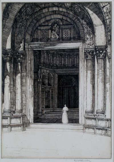 Louis Conrad Rosenberg, 'Doorway San Marco, Venice', ca. 1920