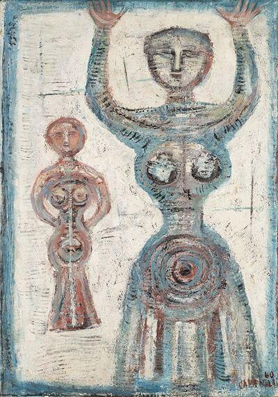 Massimo Campigli, 'Figura in blu - Figure in bleu', 1960