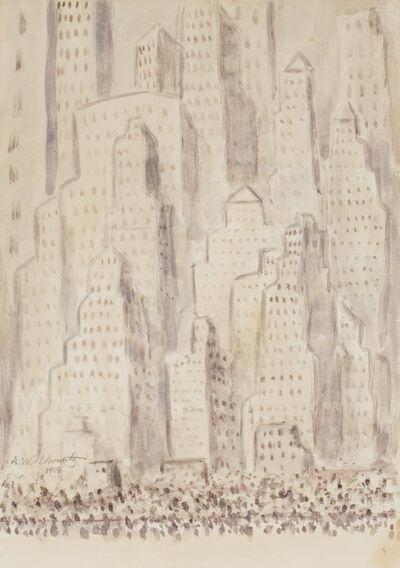 Abraham Walkowitz, 'Untitled (Cityscape)', 1909