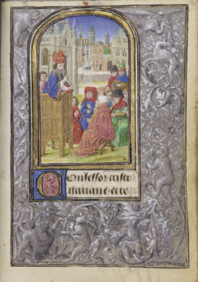 Lievan van Lathem, 'Saint Gatian Preaching', 1469