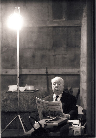 Julian Wasser, 'Alfred Hitchcock on Set of Marnie', 1963