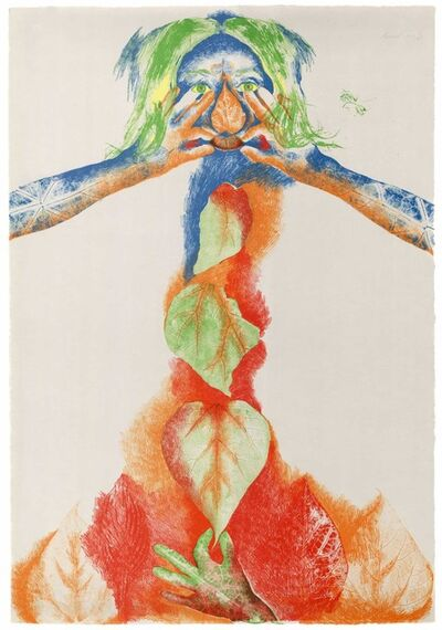 Marisol, 'Catalpa Maiden About to Touch Herself', 1973