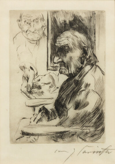 Lovis Corinth, 'Alter Mann (Old Man)', 1916
