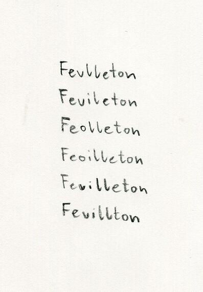 Julius Brauckmann, 'Feuilleton', 2016