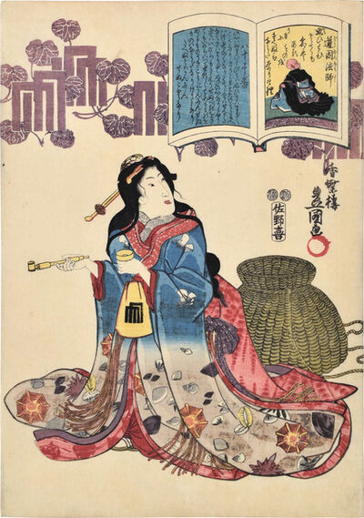 Utagawa Toyokuni III (Utagawa Kunisada), 'A Pictorial Commentary on One Hundred Poems by One Hundred Poets: no. 81, Priest Doin', ca. 1847