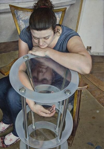 Michael Taylor (b. 1952), 'Seated Girl with Three-Tiered Table', 2009