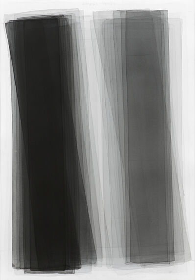 Joachim Bandau, 'Black watercolor', 2015