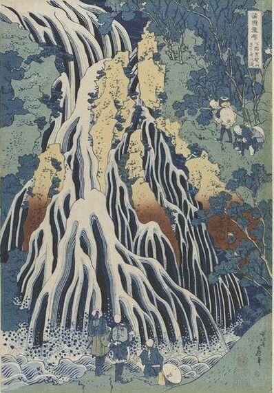 Katsushika Hokusai, 'Kirifuri Waterfall at Kurokami Mountain in Shimotsuke (Shimotsuke Kurokamiyama Kirifuri no taki), from the series A Tour of Waterfalls in Various Provinces (Shokoku taki meguri)', ca. 1832 (Edo period)