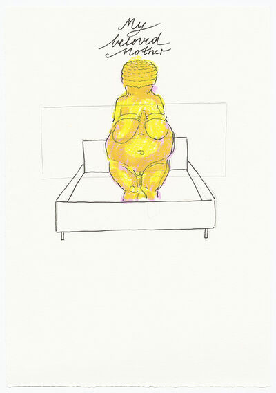 """Elisabeth von Samsonow, 'Drawing from the series """"Psychoslots and other stories from the bedroom""""', 2019"""