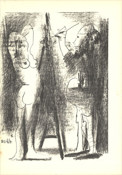 Pablo Picasso, 'Le Peintre et son modele (Lg)', 1964
