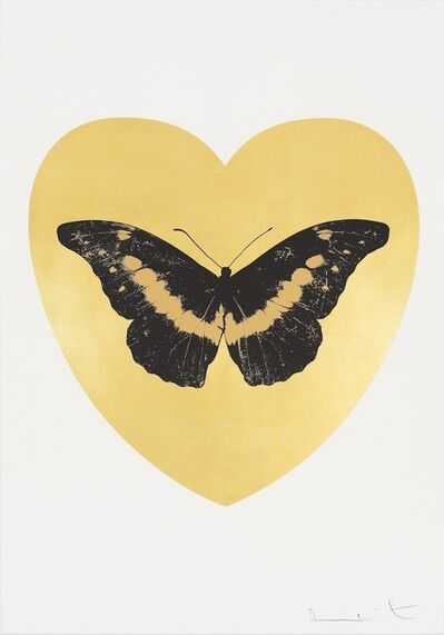 Damien Hirst, 'I Love You - gold leaf, black, cool gold ', 2015