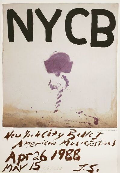 Julian Schnabel, 'NEW YORK CITY BALLET POSTER', 1988