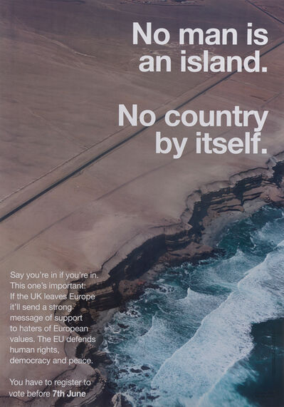 Wolfgang Tillmans, 'No Man Is an Island. No Country by Itself', 2016
