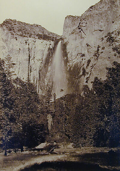 Carleton E. Watkins, 'Phohono, The Bridal Veil Fall,  at 940 Feet, Yosemite, California', 1878-1881