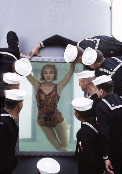 Lawrence Schiller, 'New Recruit, Girl in the tube, Naval Amphibious Training Base, San Diego, California, Saturday Evening Post Magazine', 1964