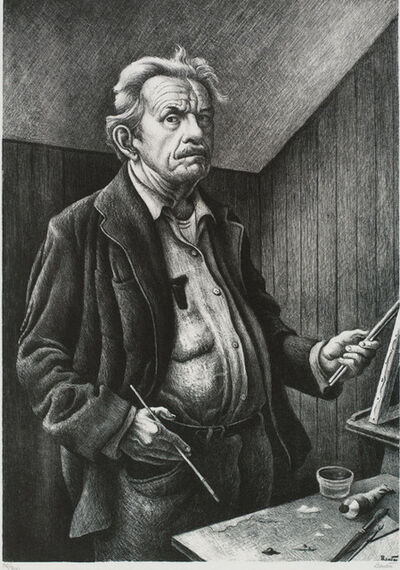 Thomas Hart Benton, 'Self Portrait', 1972