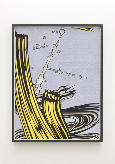 Jose Dávila, 'Untitled (Yellow and Green Brushstrokes)', 2021