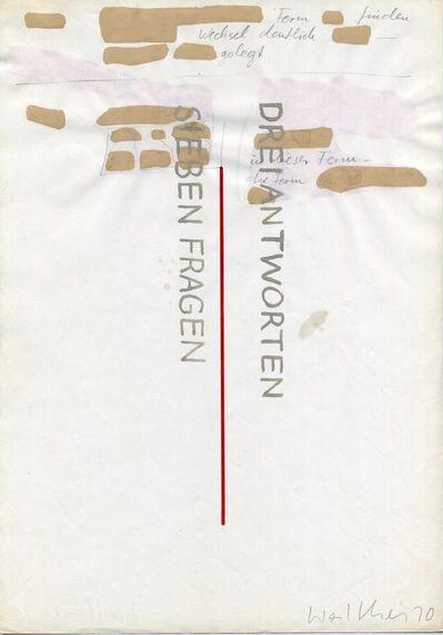 Franz Erhard Walther, 'Werkzeichnungen', 1970