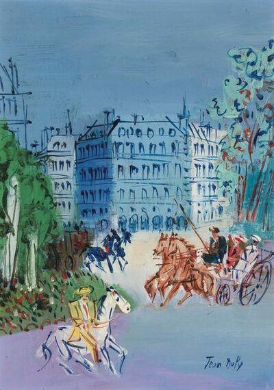 Jean Dufy, 'Caleches et Cavaliers'