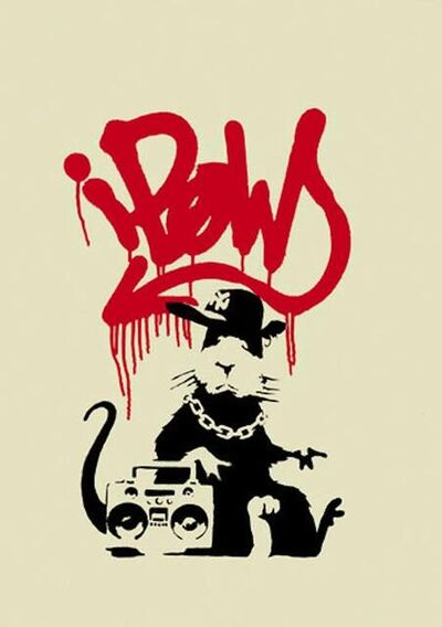 Banksy, 'Gangsta Rat (Hand-signed print)', 2004