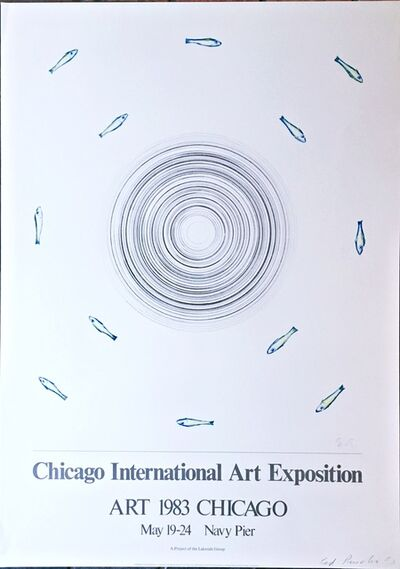 Ed Ruscha, 'Chicago International Art Exposition (Hand Signed)', 1983