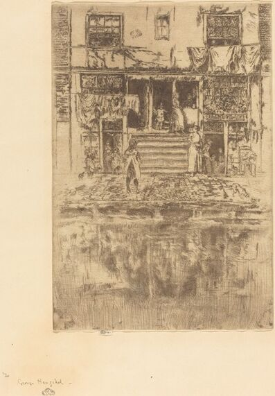 James Abbott McNeill Whistler, 'Steps, Amsterdam', 1889