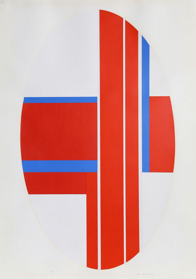 Ilya Bolotowsky, 'Red Oval Variation 3', ca. 1970