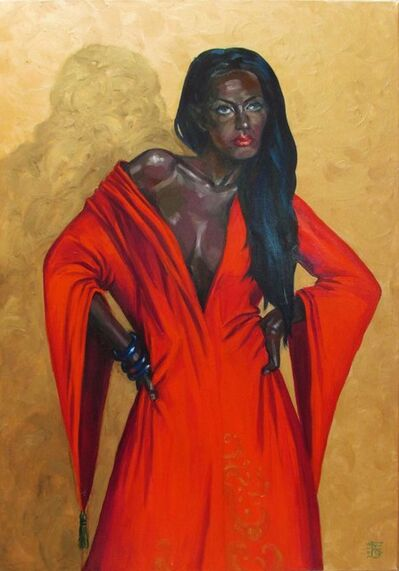 Kateryna Bortsova, 'Lady in Red', ca. 2019