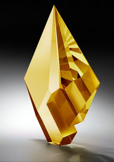 Tomáš Brzon, ''Gold Amber Composition' Cast, Cut and Polished Glass Sculpture', 2020