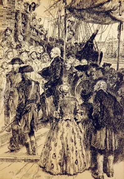 Francis Luis Mora, 'Washington in New York Harbor'