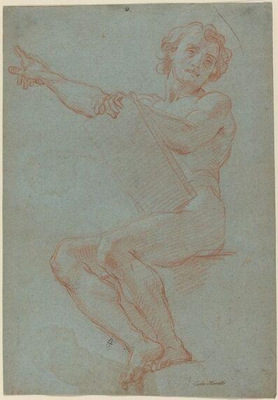 Carlo Maratti, 'A Seated Man Holding a Tablet'